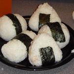 Japanese Rice Balls with Egg and Cheese